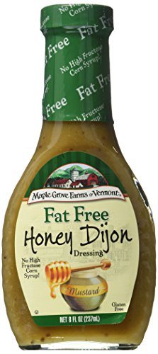 Maple Grove Farms Fat Free Salad Dressing, Honey Dijon, 8 fl oz (Pack Of 3)
