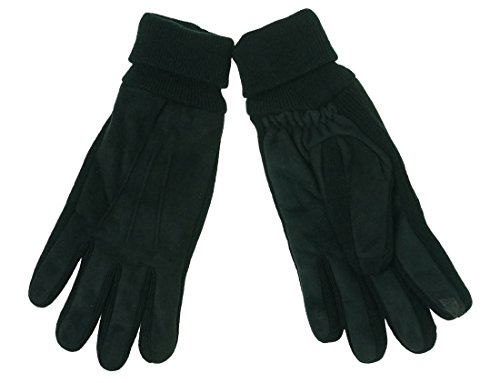 ISO Isotoner Men's SmarTouch Gloves Black L