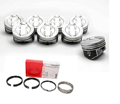 Federal Mogul TRW H654CP STD set of (8) pistons + rings compatible with 302 Ford 1977-1995 (std 4.00