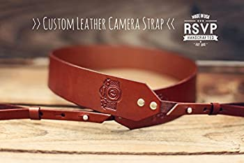 Custom Leather Camera Strap, Handmade personalized gift, Camera stamp, hand stitched, Custom name, initials, neck strap, DSLR, SLR, shoulder strap Canon Nikon Olympus Samsung Fuji Minolta Pentax