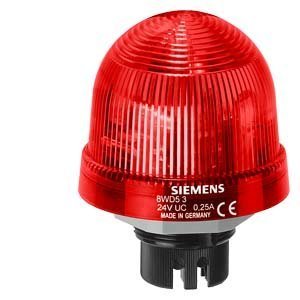 Siemens 8WD53 20-5DB Sirius Signal Column Beacon, Thermoplastic Enclosure, IP65 Protection, 70mm Diameter, LED Lamp, Rotating Beacon LED, UC 24 V Rated Voltage. Red by Siemens