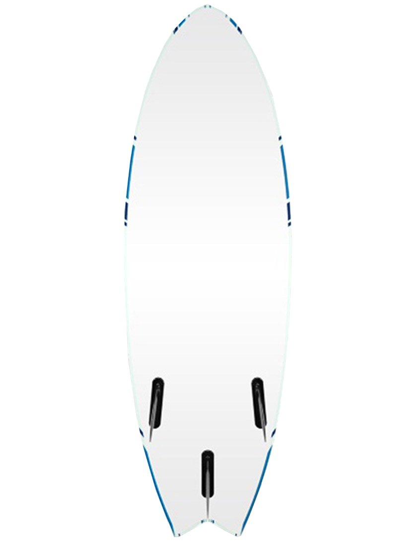 Alder Delta Hybrid Fish Soft surfboard 152,4 cm 6 66 - blanco/azul: Amazon.es: Deportes y aire libre