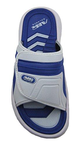 Luft Justerbar Rem Bekväm Dusch Strand Sandal Tofflor I Stilrena Färger För Män R.blue/white