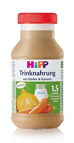 HIPP – Comida para beber, calabaza y zanahoria, 200 ml, 6 botellas