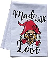Made with Love Gnome tea towel
