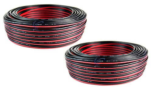 Audiopipe 2 Rolls 22 Gauge 100 Feet Speaker Wire Stranded 2 Conductor Cable Model Trains