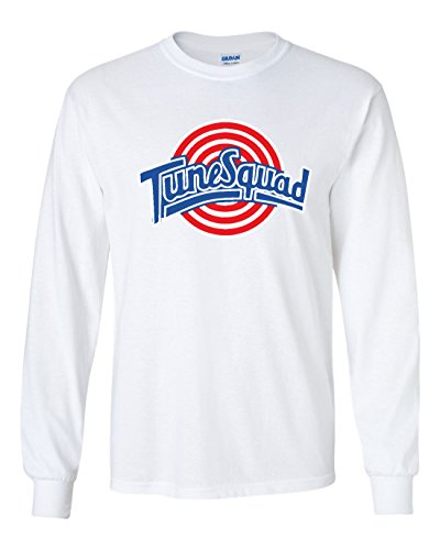 The Silo LONG SLEEVE White Spacejam Tunesquad ''Jordan'' Front & Back T-Shirt ADULT by The Silo