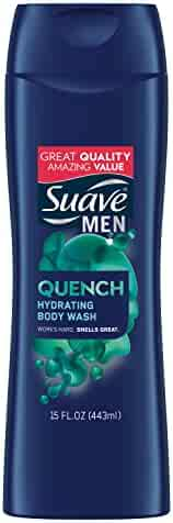Suave Men Body Wash, Quench, 15 oz