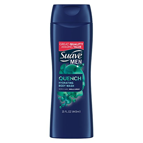 Suave Men Body Wash, Quench, 15 oz (pack of 6)