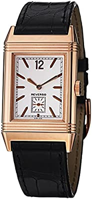 Jaeger-LeCoultre Grande Reverso Ultra Thin Duoface Men's Rose Gold Mechanical Watch 3782520