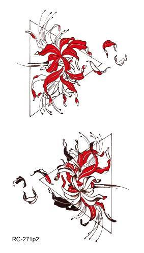 HXMAN 5 Unids Sexy Acuarela Flamenco Temporal Tatuaje Pegatina ...