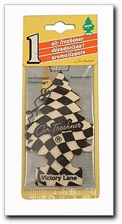 Little Trees Car Home and Office Cardboard Hanging Air Freshener, Checkered Design Victory - Air Lane