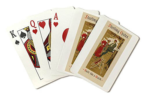 Sterling Cycles Vintage Poster USA c. 1895 (Playing Card Deck - 52 Card Poker Size with Jokers)