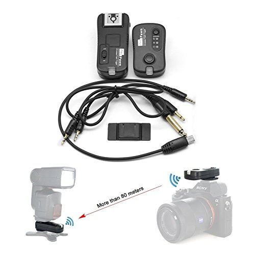 PIXEL Flash Trigger Shutter Remote Control 2.4GHz 16 Channels MI Hotshoe Interface for SONY A58 NEX-3NL A7 A7R A3000 A6000 HX300 HX50 RX100M2 HX400 HX60 RX100II DSLR Cameras (Transmitter Wireless Sony For)