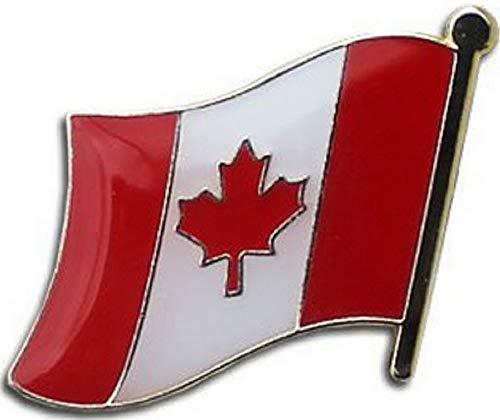 (Mikash Canada Canadian Country Flag Bike Motorcycle Hat Cap Lapel Pin (Premium Quality) | Model FLG - 2481)