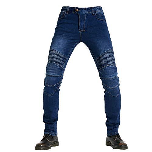 GuoCu Herren Motorradhose Motorrad Jeans Motocross Schutzhose mit 4 Abnehmbaren Schutzauskleidung,Outdoor Denim Cargo…