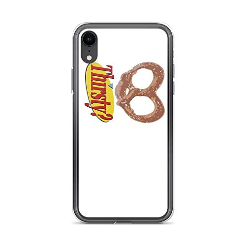 iPhone XR Case Cases Clear Anti-Scratch These Pretzels are Making Me Thirsty, Pretzel Cover Case for iPhone XR, Crystal Clear]()