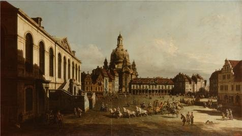 Oil Painting 'Neumarkt In Dresden,1747 By Bernardo Bellotto' Printing On High Quality Polyster Canvas , 24x43 Inch / 61x108 Cm ,the Best Kitchen Decor And Home Gallery Art And Gifts Is This Cheap But High Quality Art Decorative Art Decorative Canvas Prints