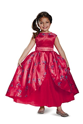 Usa Costume Gown (Elena Ball Gown Deluxe Elena of Avalor Disney Costume, Small/4-6X)