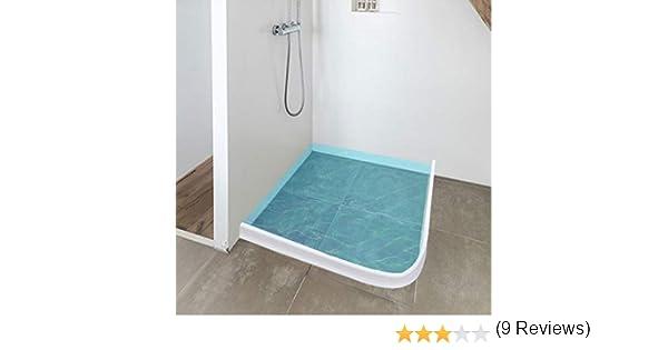 Junta flexible de silicona para el suelo de la ducha, para hacer ...