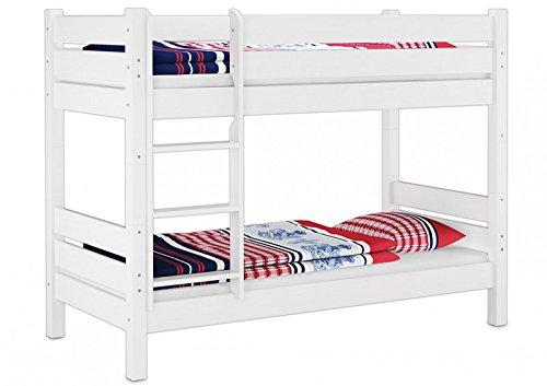 60.16-09 W T80 Etagenbett für Erwachsene weiß 90x200 cm, Nischenhöhe 80 cm, teilbar