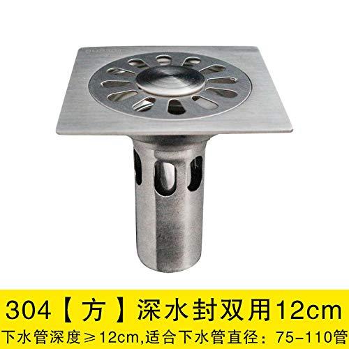 Desagüe de piso de acero inoxidable 12X12cm desodorante baño ...