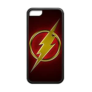 Zyhome iPhone 5C Cool TV The Flash Series Logo Case Covers for iPhone 5C TPU (Laser Technology)