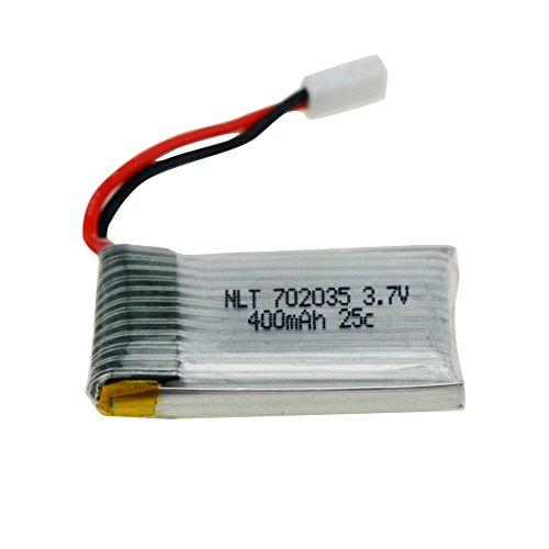 Islandse❤ 1 Pcs 3.7V 400mAh Battery for Drone JJRC H31 RC Quadcopter White