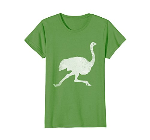 Silhouette Grass - Womens Love Ostriches Bird Farmer Tee Shirt Ostrich Silhouette XL Grass
