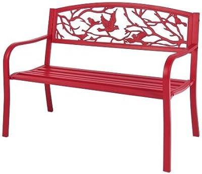Amazon Com Dc America Slp2660brsp Rose Resin Back Park Bench Cast Iron Legs Rust Free Resin