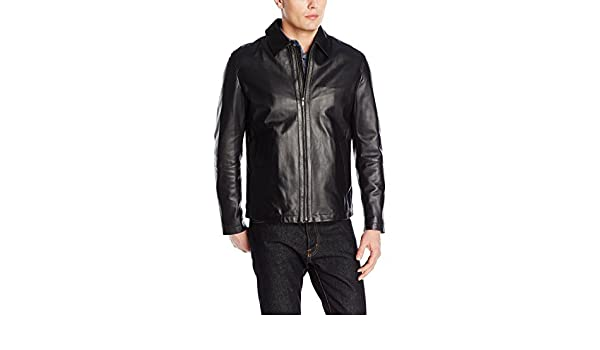 Cole Haan Mens Smooth Matte Lamb Leather Shirt Jacket