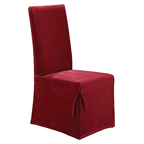 SureFit Stretch Pique - Dining Room Chair Slipcover  - Garnet