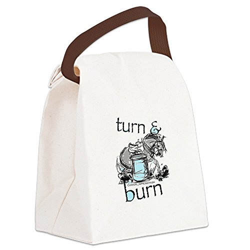 CafePress - Turn and Burn Barrel Racing Canvas Lunch Bag - Canvas Lunch Bag with Strap Handle -