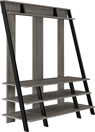 Ameriwood Home Dunnington Ladder Style Home Entertainment Center, Weathered Oak