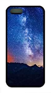 Apple iPhone 5/5S Cases and Cover Milky Way Mountains TPU Rubber Case for iPhone 5 and iPhone 1127S - Black