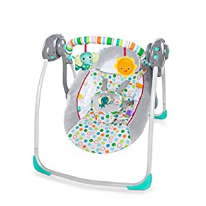 Bright Starts Itsy Bitsy Jungle Portable Swing, Grey
