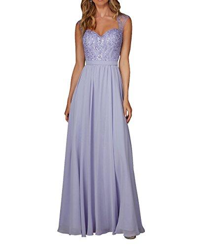 Linie 2018 Abschlussballkleider A Lilac Neu Chiffon La Brautjungfernkleider Promkleider mia Brau Langes Abendkleider WvnwxfOqa