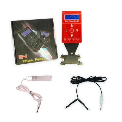 1TattooWorld OTW-PH102R Premium Quality Dual-Function Digital Display Tattoo Power Supply, Red