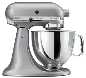 KitchenAid KSM150PSSM Artisan Series 5-Quart Stand Mixer, Silver Metallic [Discontinued]