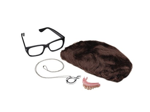 [Austin Powers Deluxe 6 Piece Accessory Kit] (Baseball Costume Accessories)