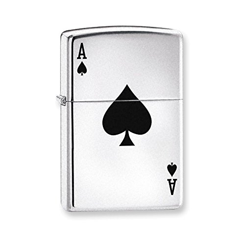 - Zippo Lucky Ace High Polish Chrome Lighter