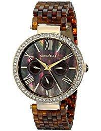 Caravelle New York Women's 44N102 Analog Display Analog Quartz Brown Watch