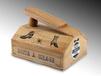 Caja Para Limpiar Zapatos Madera Decorada: Amazon.es: Hogar