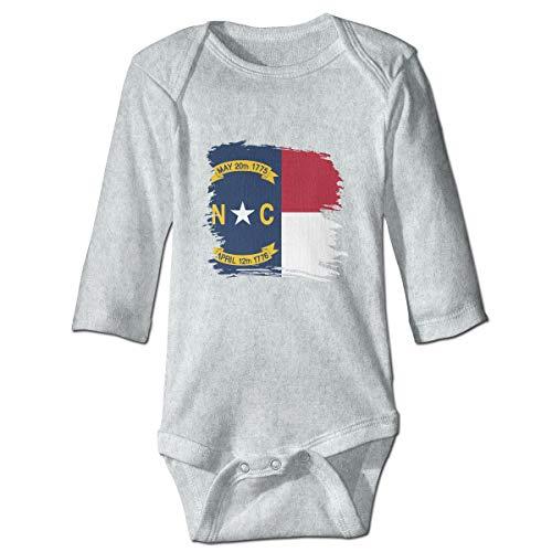 XHX Infant North Carolina Flag Long Sleeve Romper Onesie Bodysuit Jumpsuit ()