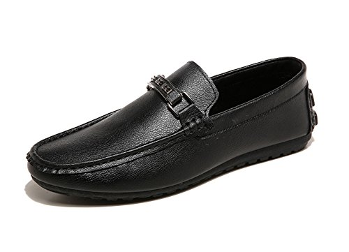 Nero On Scarpe Slip Uomo Top Barca Casuale Da Fibbia Low Mocassini Con PqAF6BwA