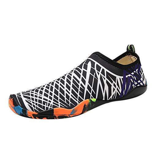 (Hivot Unisex Flats Outdoor Non-Slip Flats Casual Diving Shoes Swimming Shoes Yoga Shoes Creek Shoes Sandals Breathable White)