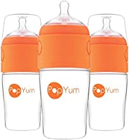 PopYum 9 oz Anti-Colic Formula Making/Mixing/Dispenser Baby Bottles, 3-Pack