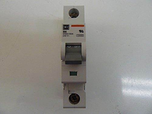 Cutler Hammer WMS1B06 Circuit Breaker 6Amp 1 Pole 240V