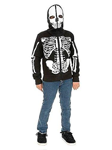 - Skeleton Sweatshirt Hoodie Child Costume - Large