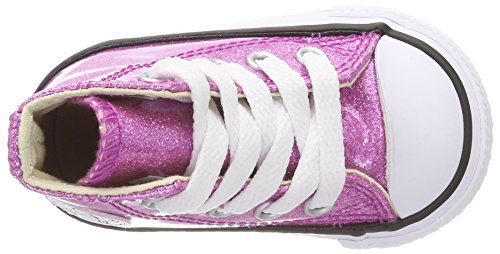 Converse Ctas Hi Bright Violet/Natural/White, Zapatillas Altas Unisex Niños Pink (Bright Violet/Natural/White)